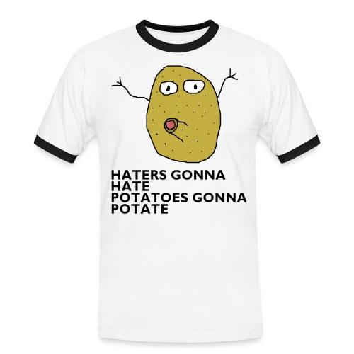 Haters gonna hate - Männer Kontrast-T-Shirt