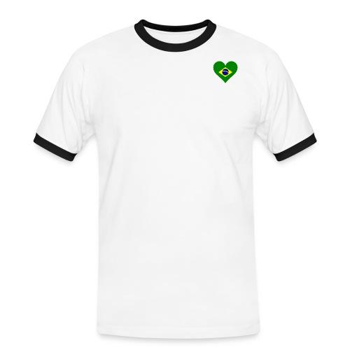 Coraçao Brasileiro - Maglietta Contrast da uomo