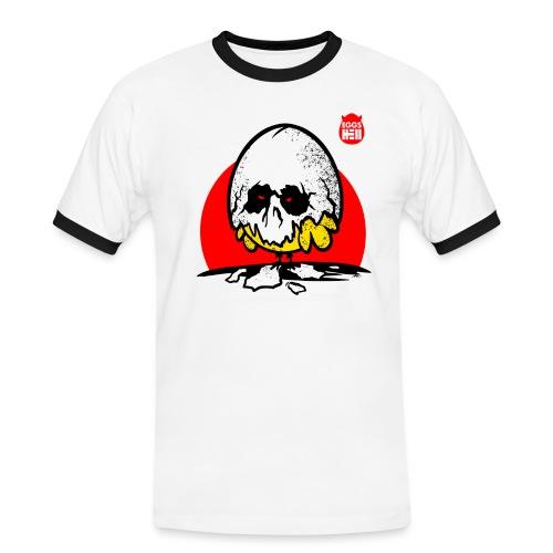 Eggshell skull - easter egg - Men's Ringer Shirt
