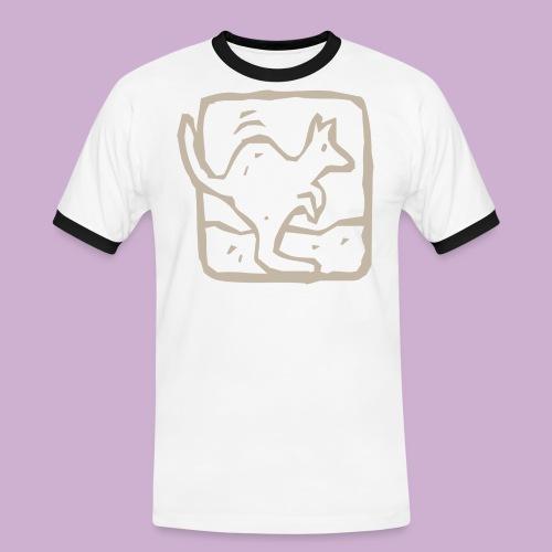 Känguru - Männer Kontrast-T-Shirt