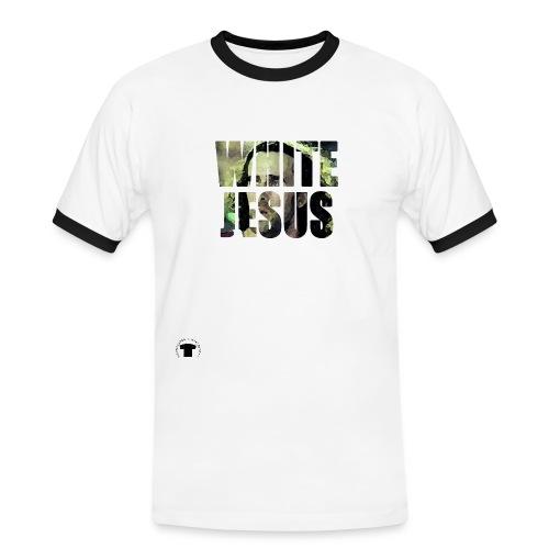 white jesus 3 png - Maglietta Contrast da uomo