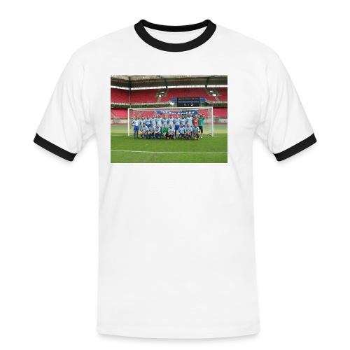 fotos heike 019 anzeigetafel shirt - Männer Kontrast-T-Shirt