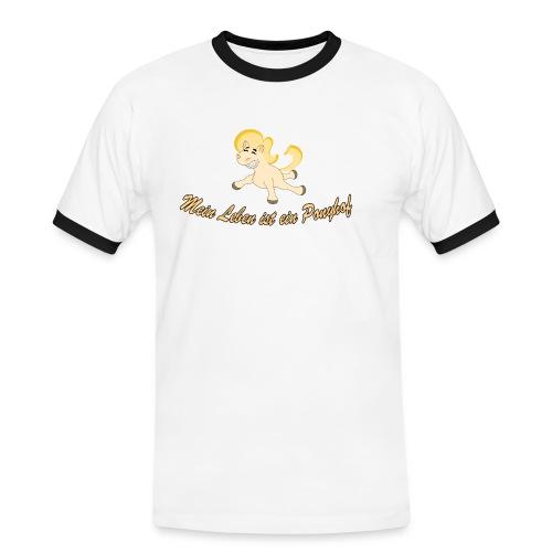Mein Leben ist ein Ponyhof - Männer Kontrast-T-Shirt