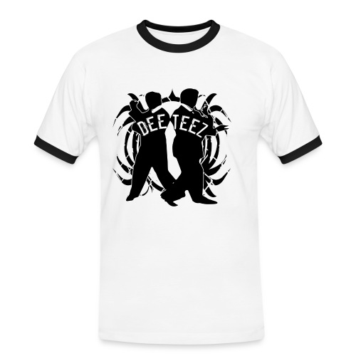 deetees 2 guys black trans - Men's Ringer Shirt