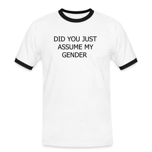 dont assume my FUCKING GENDER - Herre kontrast-T-shirt