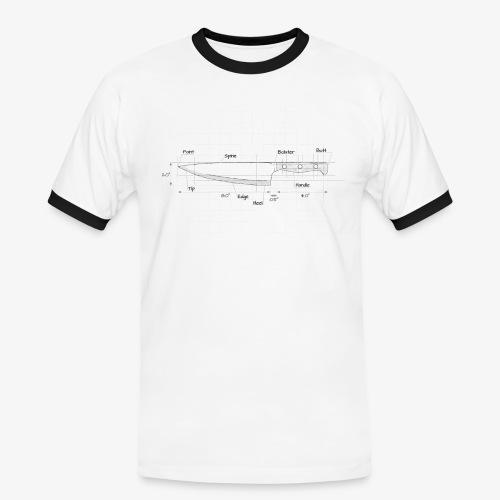 Cooks Knife Diagram - Men's Ringer Shirt