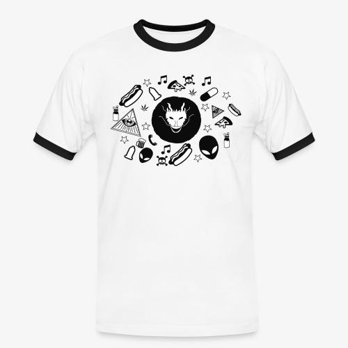 TRIPPY - Mannen contrastshirt