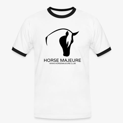 Horse Majeure Logo / Musta - Miesten kontrastipaita
