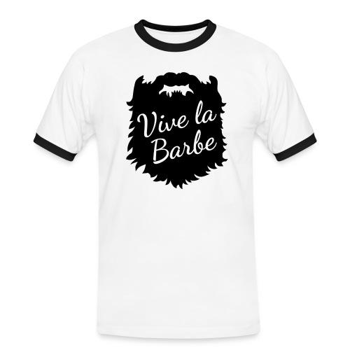 T-Shirt Barbe : Vive la Barbe - QueBellissimo - T-shirt contrasté Homme
