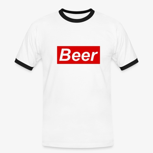 Beer. Red limited edition - Mannen contrastshirt