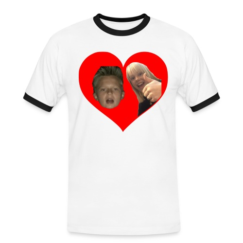 Sebber in love - Herre kontrast-T-shirt