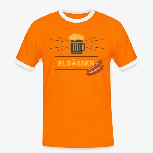 ELSÄSSER - T-shirt contrasté Homme
