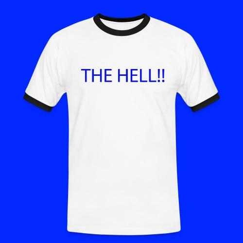 THE HELL!! - Kontrast-T-shirt herr