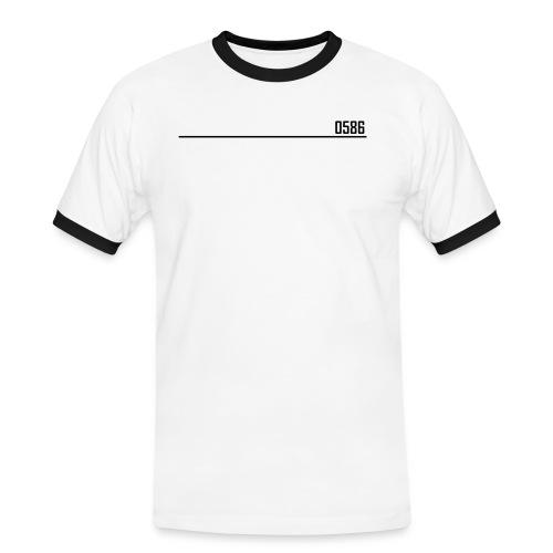 0586 - Kontrast-T-shirt herr