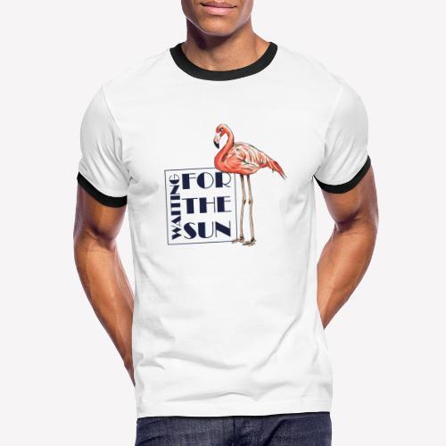 Flamingo - Männer Kontrast-T-Shirt