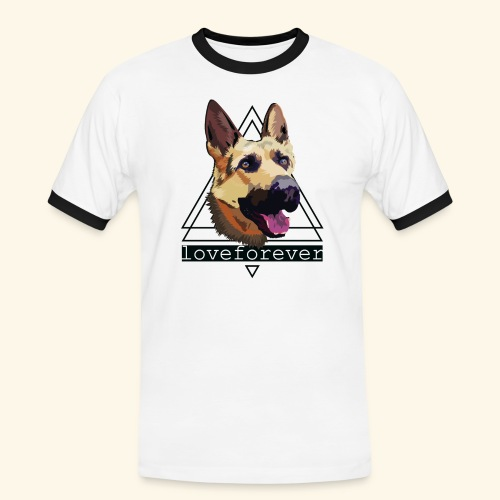 SHEPHERD LOVE FOREVER - Camiseta contraste hombre