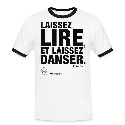LAISSEZ LIRE | Bookish Merch - Männer Kontrast-T-Shirt