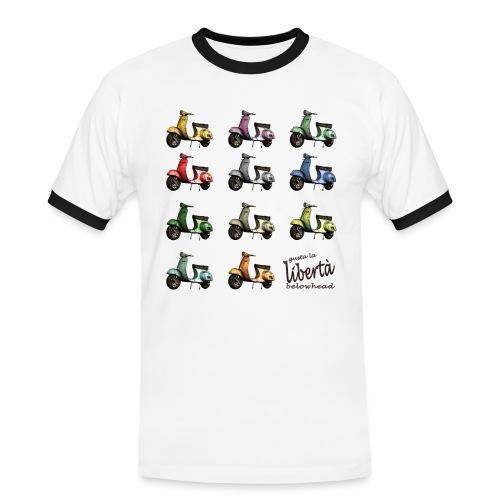 ♂ BIO-SHIRT: gusta la libertà - Männer Kontrast-T-Shirt