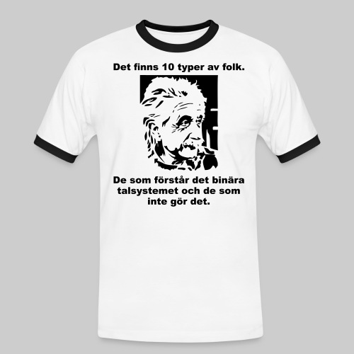 Det finns 10 Typer - Kontrast-T-shirt herr