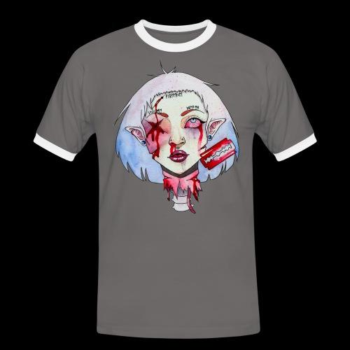 Violence - T-shirt contrasté Homme