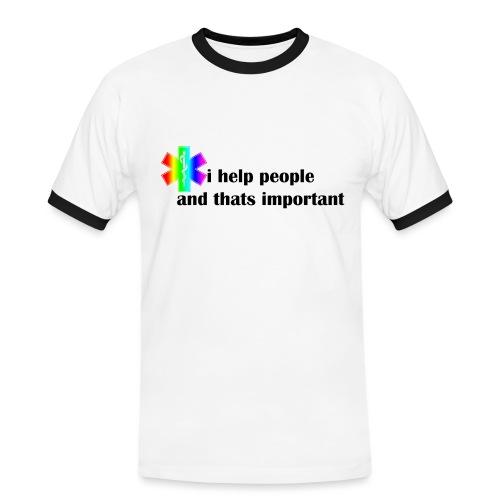 i help people - Mannen contrastshirt