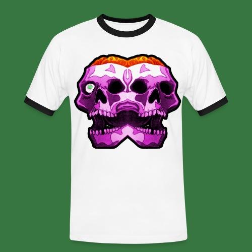 Skulls and brains - Kontrast-T-shirt herr