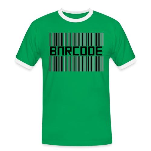 BARCODE WHITE - Men's Ringer Shirt