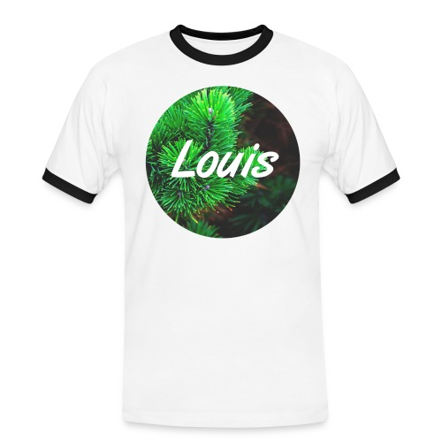Louis round-logo - Männer Kontrast-T-Shirt