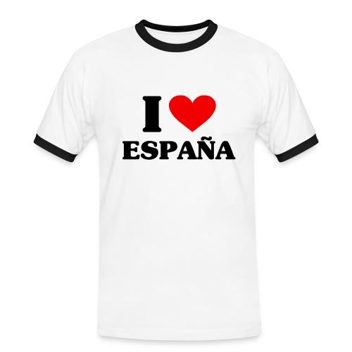 I love Espana - Männer Kontrast-T-Shirt