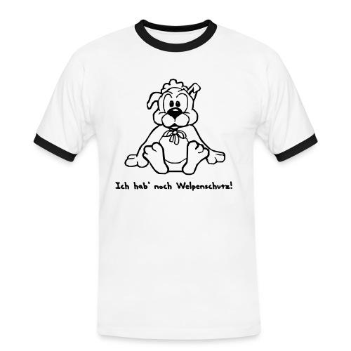 Welpenschutz - Männer Kontrast-T-Shirt