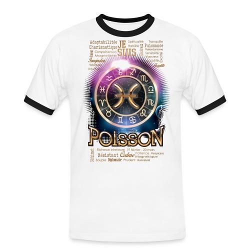 POISSONS - T-shirt contrasté Homme