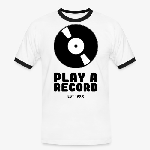 PLAY A RECORD - EST 19XX - Men's Ringer Shirt