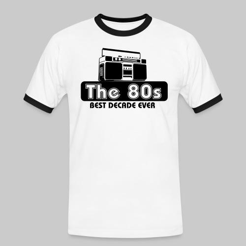 80er Jahre - Männer Kontrast-T-Shirt