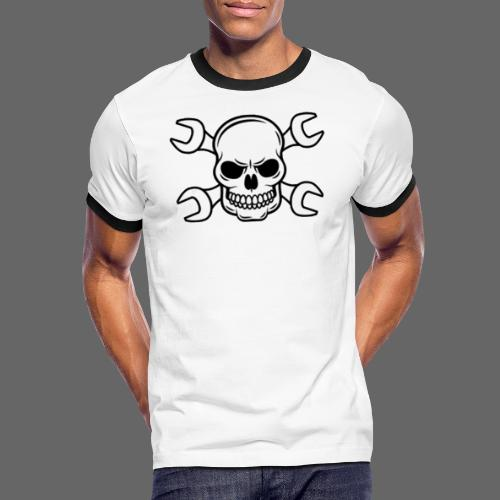 MEKKER SKULL - Herre kontrast-T-shirt