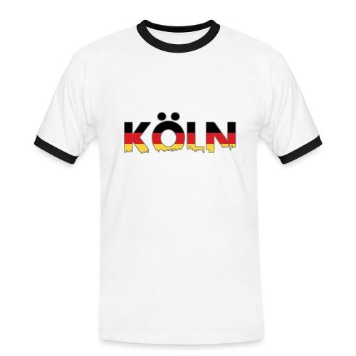 Köln Typografie - Männer Kontrast-T-Shirt