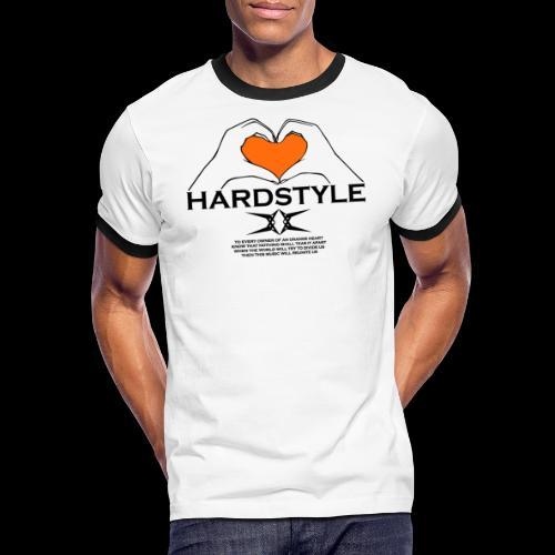 Hardstyle = My Style - Owner Of An Orange Heart - Mannen contrastshirt
