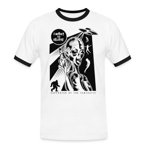 ALIEN - Männer Kontrast-T-Shirt