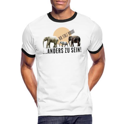 Stolz anders zu sein - Männer Kontrast-T-Shirt