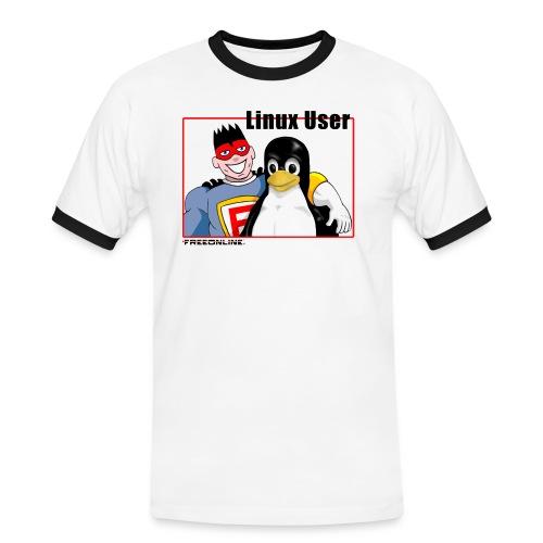 linuxuser120 - Maglietta Contrast da uomo