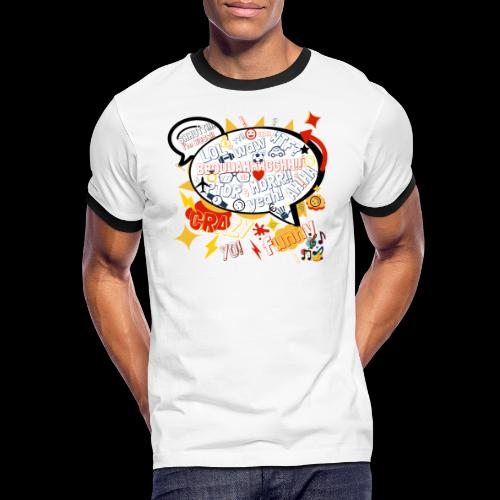 crazystreettalk - T-shirt contrasté Homme