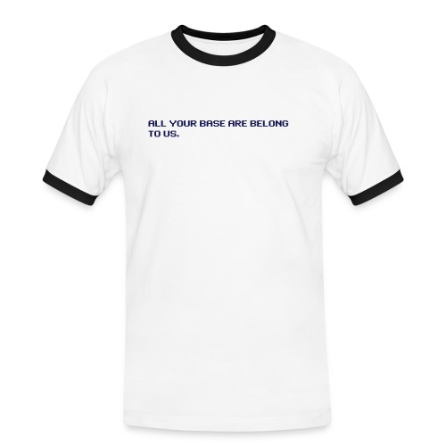 All your base are belong to us - original - Men's Ringer Shirt