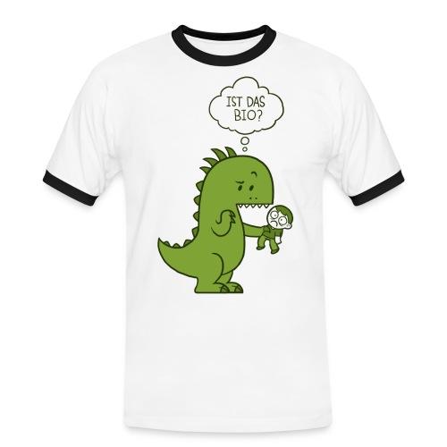 Bio-Dinosaurier - Männer Kontrast-T-Shirt