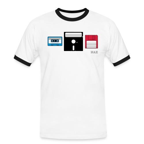 old magnetics - Kontrast-T-shirt herr