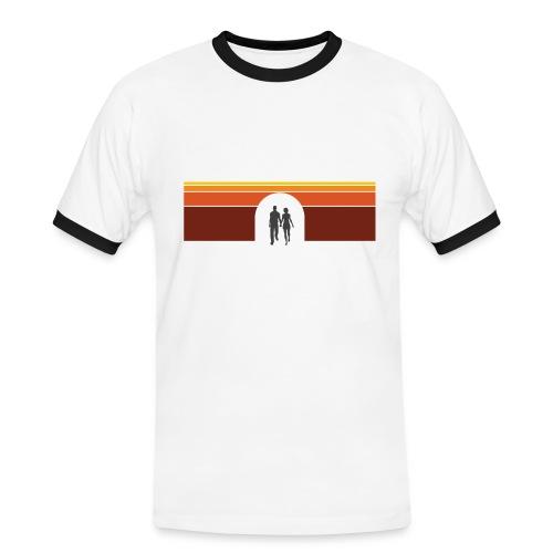 Couple in tunnel warm - Herre kontrast-T-shirt