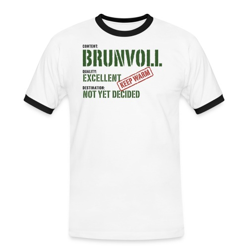 content brunvoll - Kontrast-T-skjorte for menn