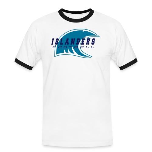wave teal - Maglietta Contrast da uomo