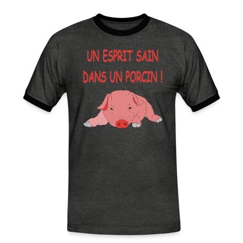 Porcitive Attitude - T-shirt contrasté Homme