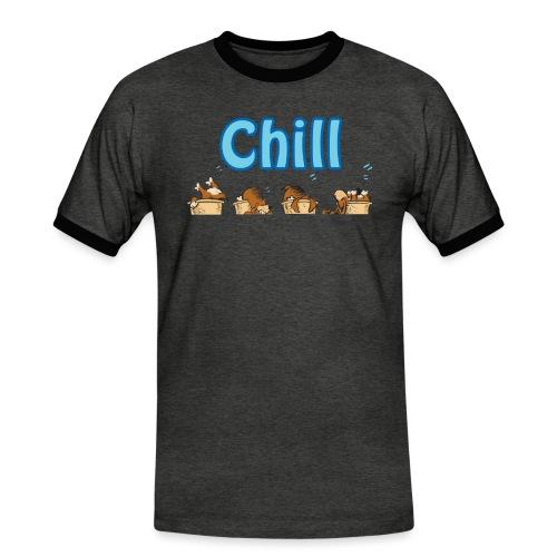 Chill - Kontrast-T-skjorte for menn