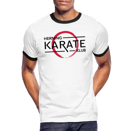 HKK Sort - Herre kontrast-T-shirt