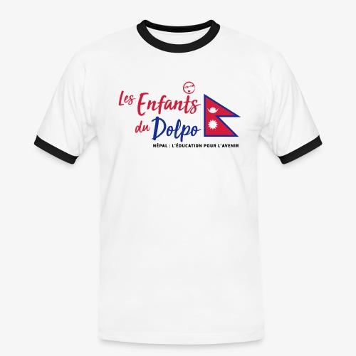 Les Enfants du Doplo - Grand Logo Centré - T-shirt contrasté Homme